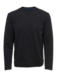 Only & Sons sweater onsTHOMAS AOE CREW SWEAT 22011433 Black