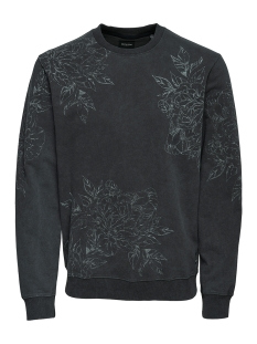 Only & Sons Sweater onsTONY AOP WASHED CREW SWEAT REG 22011440 Phantom