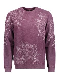 Only & Sons Sweater onsTONY AOP WASHED CREW SWEAT REG 22011440 Winetasting