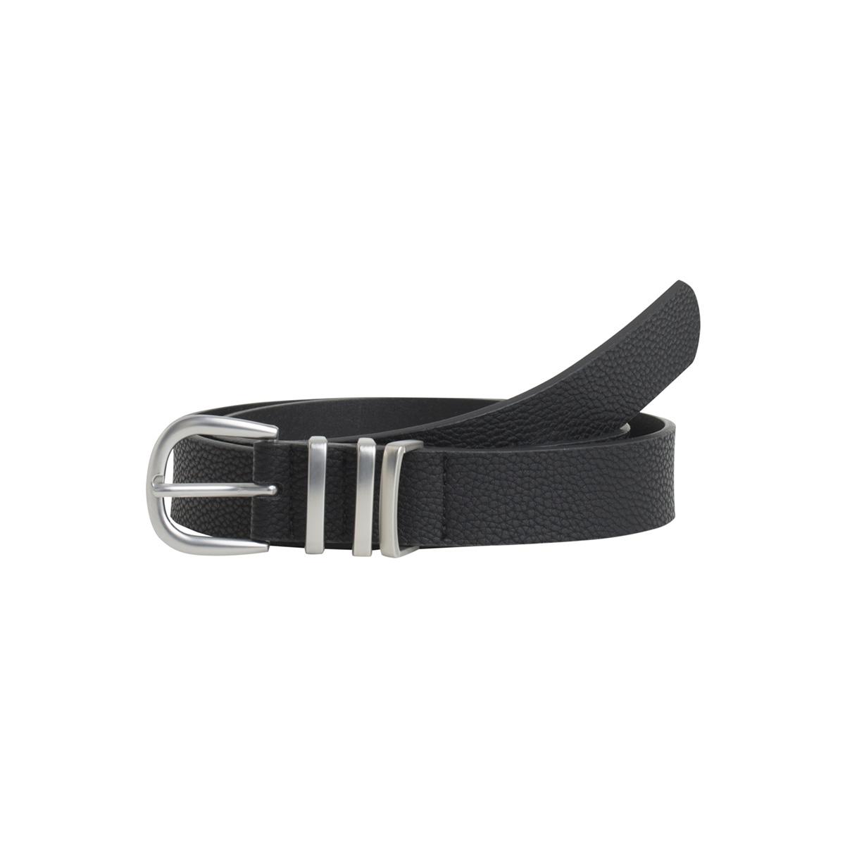 pclea jeans belt noos 17082261 pieces riem black/black w.silver