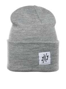 Jack & Jones Accessoire JACLONG KNIT BEANIE 12150627 Light Grey Melange