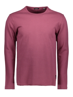 onsherluf curved o-neck 22006824 only & sons trui maroon