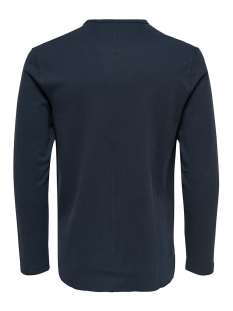 onsherluf curved o-neck 22006824 only & sons trui blue nights