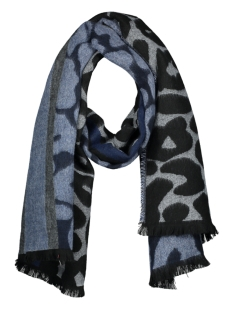 Only Sjaal onlANNE WEAVED SCARF ACC 15165154 Black/BLUE