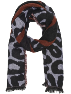 Only Sjaal onlANNE WEAVED SCARF ACC 15165154 Black/BROWN