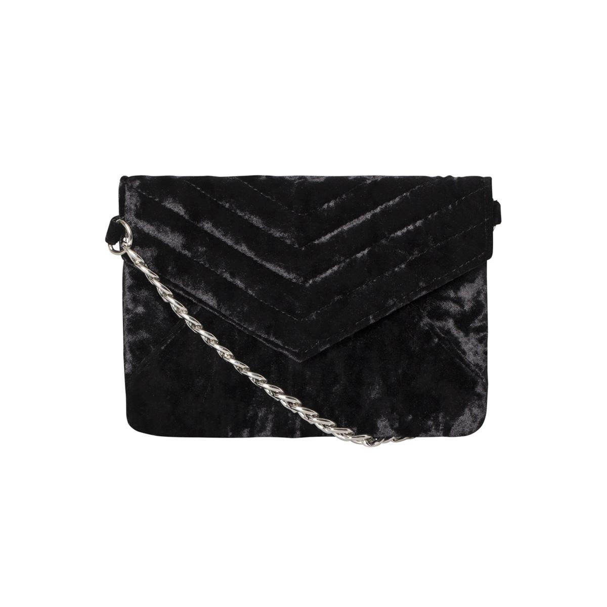 pclarissa cross body velvet 17093059 pieces tas black