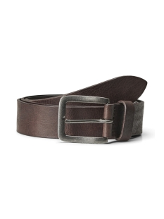 Jack & Jones Riem JACVICTOR LEATHER BELT NOOS 12152757 Black Coffee