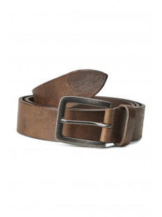Jack & Jones Riem JACVICTOR LEATHER BELT NOOS 12152757 Mocha Bisque