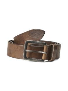 jacvictor leather belt noos 12152757 jack & jones riem mocha bisque