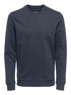 Only & Sons sweater onsBASIC SWEAT CREW NECK UNBRUSHED NOOS 22012005 Blue Nights