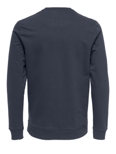 onsbasic sweat crew neck unbrushed noos 22012005 only & sons sweater blue nights