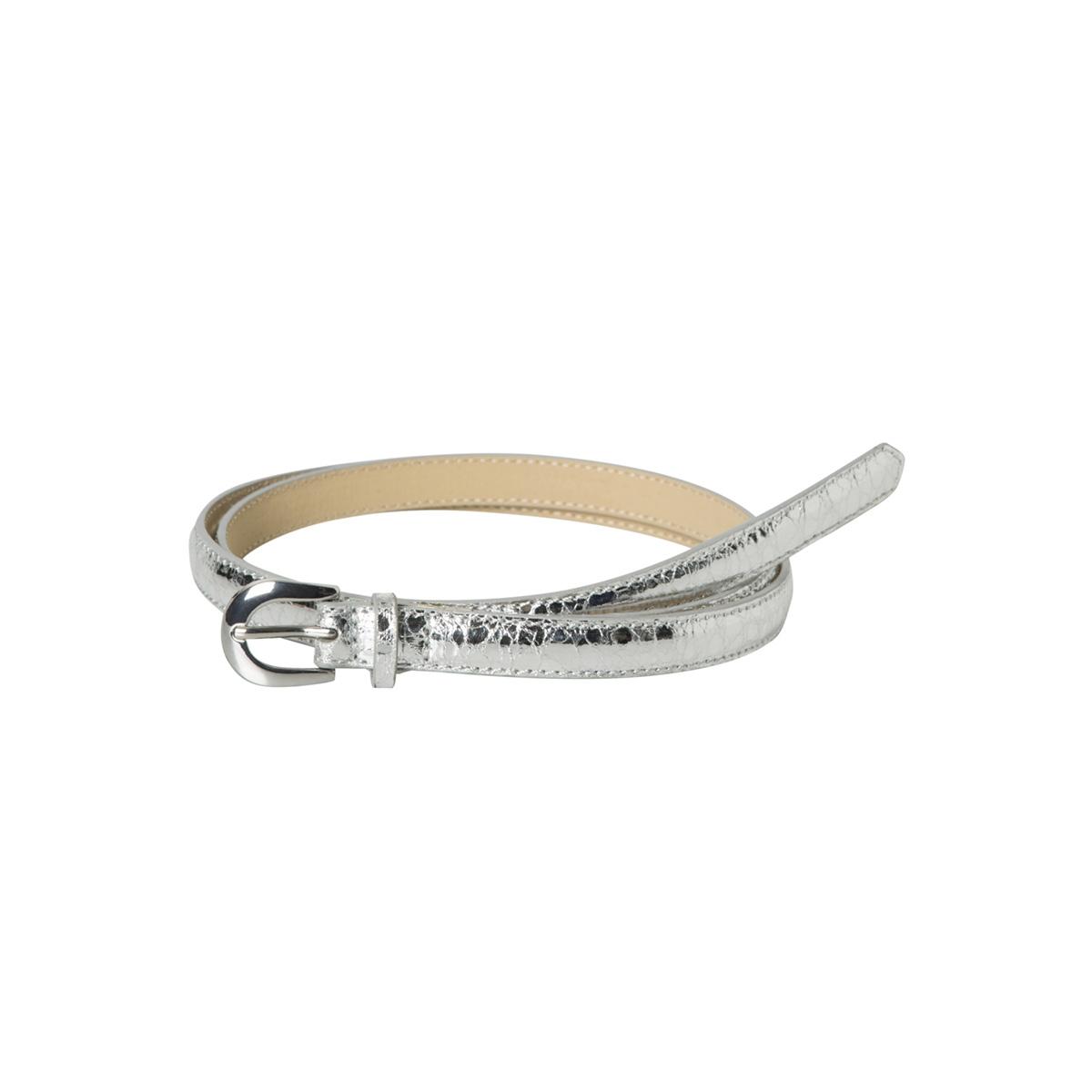 pclesli jeans belt box pb 17093180 pieces riem silver colour/metallic