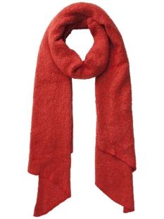 pcpyron long scarf noos 17076047 pieces sjaal aura orange