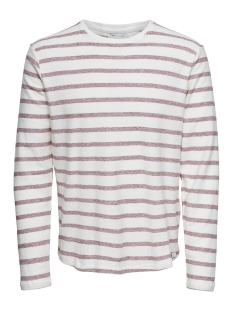 Only & Sons Trui onsMARVIN STRIPED CREW NECK NOOS 22008598 Cloud Dancer/SUN DRIED