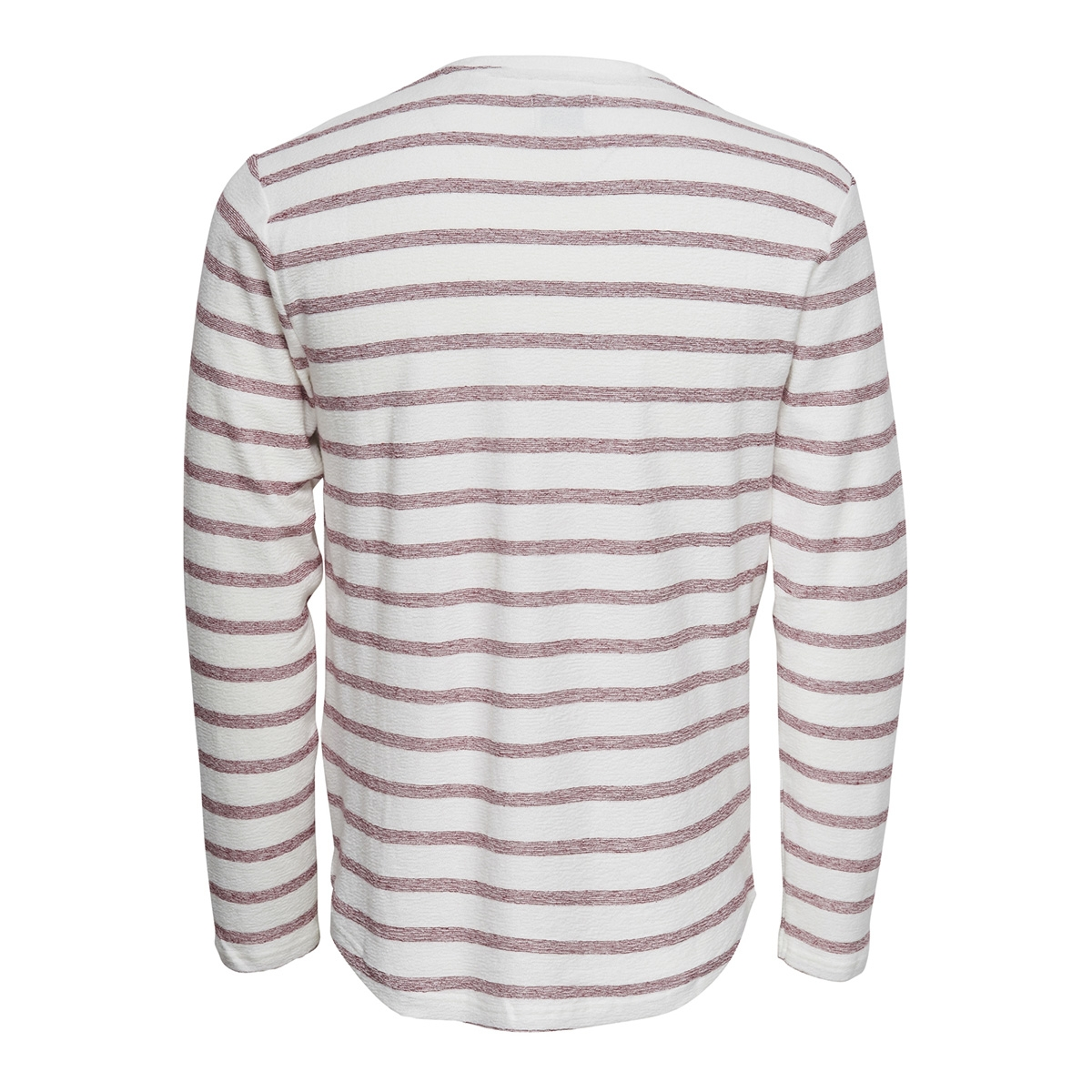 onsmarvin striped crew neck noos 22008598 only & sons trui cloud dancer/sun dried