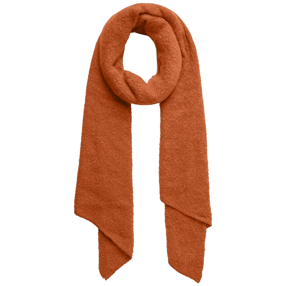 pcpyron long scarf noos 17076047 pieces sjaal rust