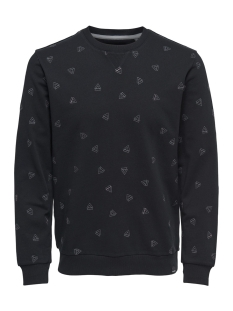 Only & Sons sweater onsOPUS AOE CREW NECK SWEAT 22011843 Black