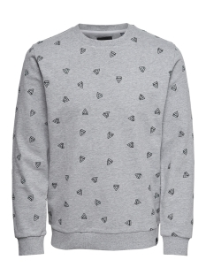 Only & Sons sweater onsOPUS AOE CREW NECK SWEAT 22011843 Light Grey Melange