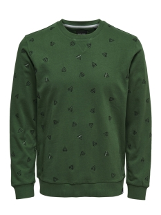 Only & Sons sweater onsOPUS AOE CREW NECK SWEAT 22011843 Dark Green