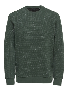 Only & Sons Trui onsOKSI MELANGE CREW NECK 22012168 Forest Night