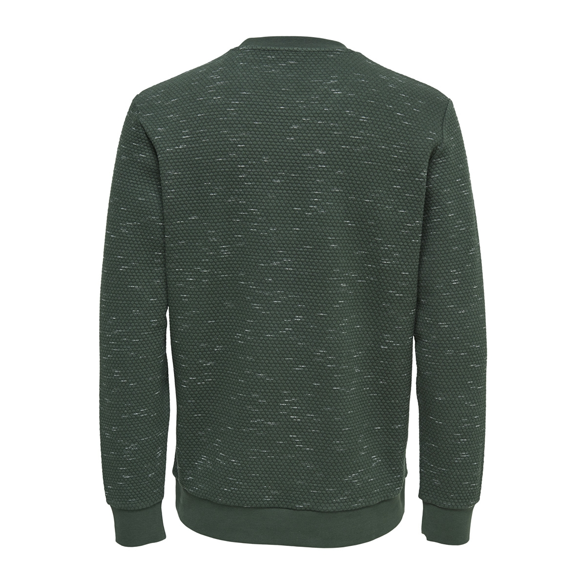 onsoksi melange crew neck 22012168 only & sons trui forest night