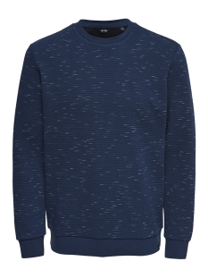 Only & Sons Trui onsOKSI MELANGE CREW NECK 22012168 Dress Blues