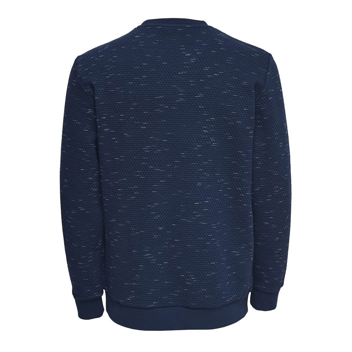 onsoksi melange crew neck 22012168 only & sons trui dress blues