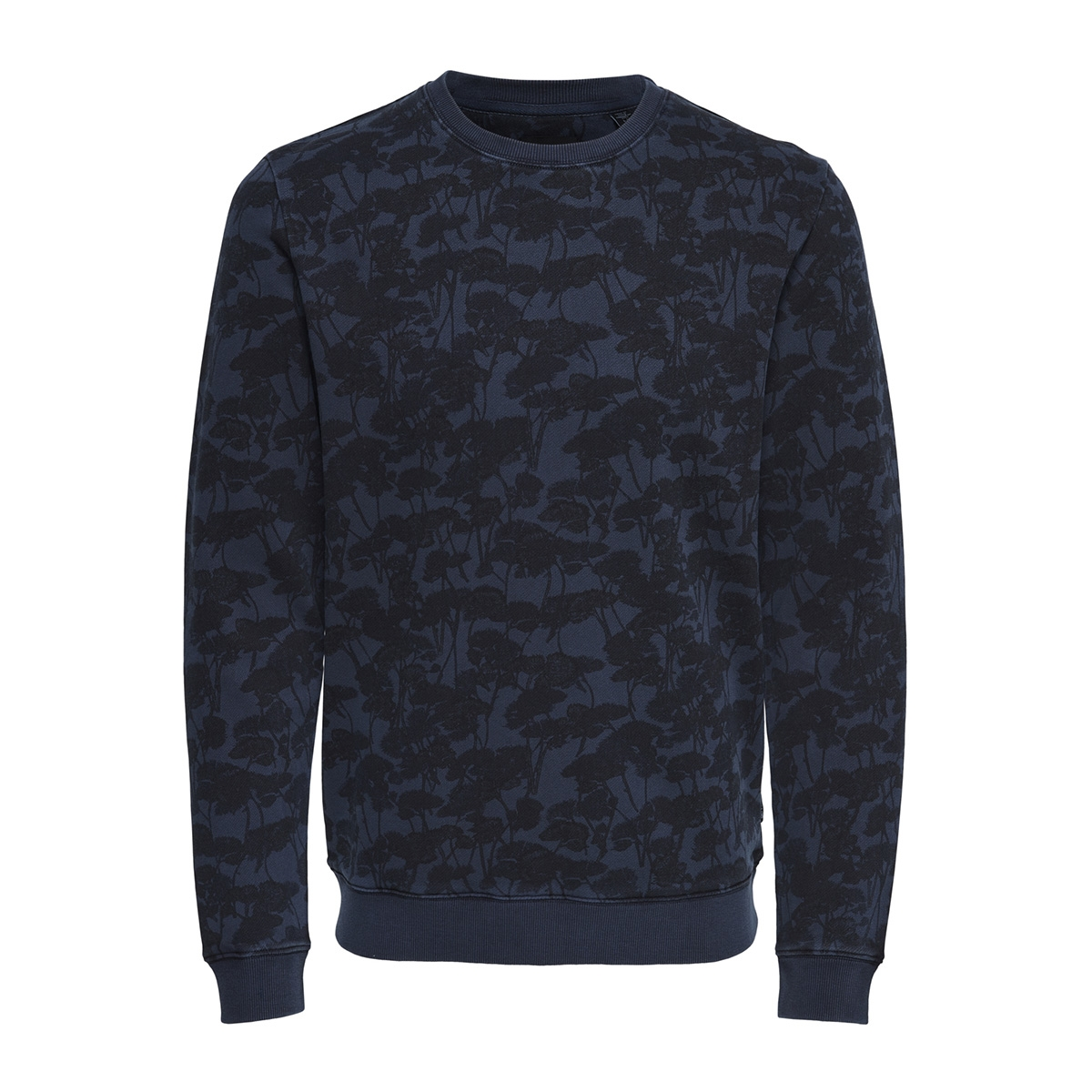 onsthor aop washed crew sweat 22012549 only & sons sweater dress blues