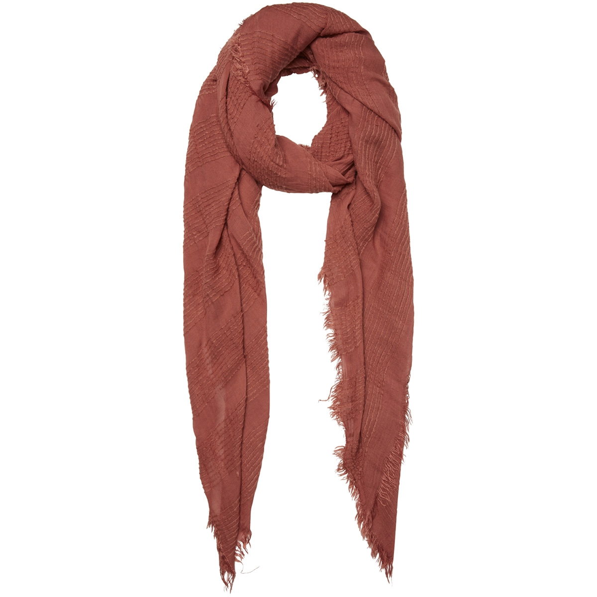 pcchristel long scarf 17096455 pieces sjaal redwood