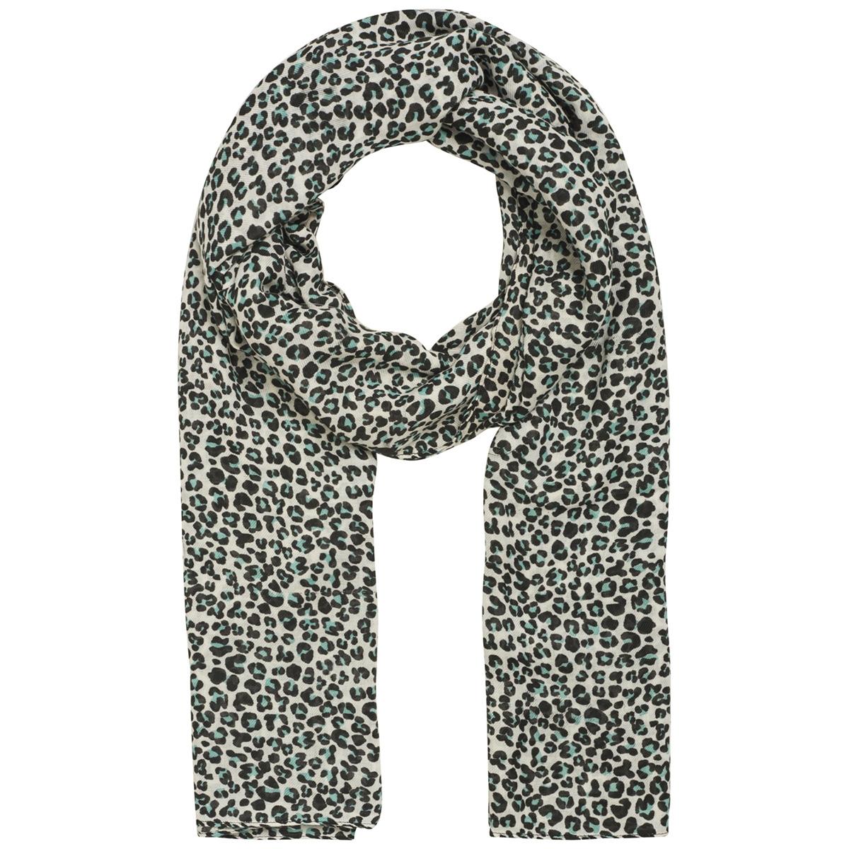 pcbertrud long scarf 17096551 pieces sjaal viridian green