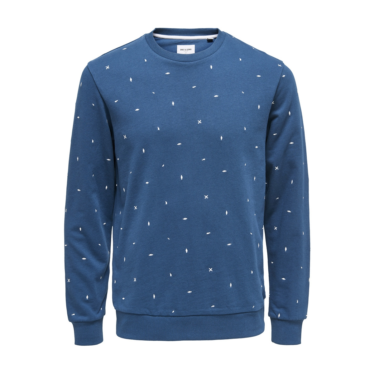 onsnathaniel aoe crew sweat 22012629 only & sons sweater majolica blue