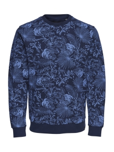 Only & Sons Trui onsKAMILL AOP CREW SWEAT 22012545 Dress Blues