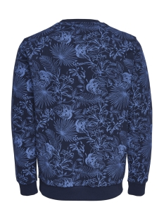 onskamill aop crew sweat 22012545 only & sons trui dress blues