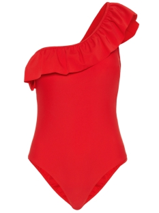 Pieces Accessoire PCBIANCA SWIMSUIT 17093482 High Risk Red/SOLID