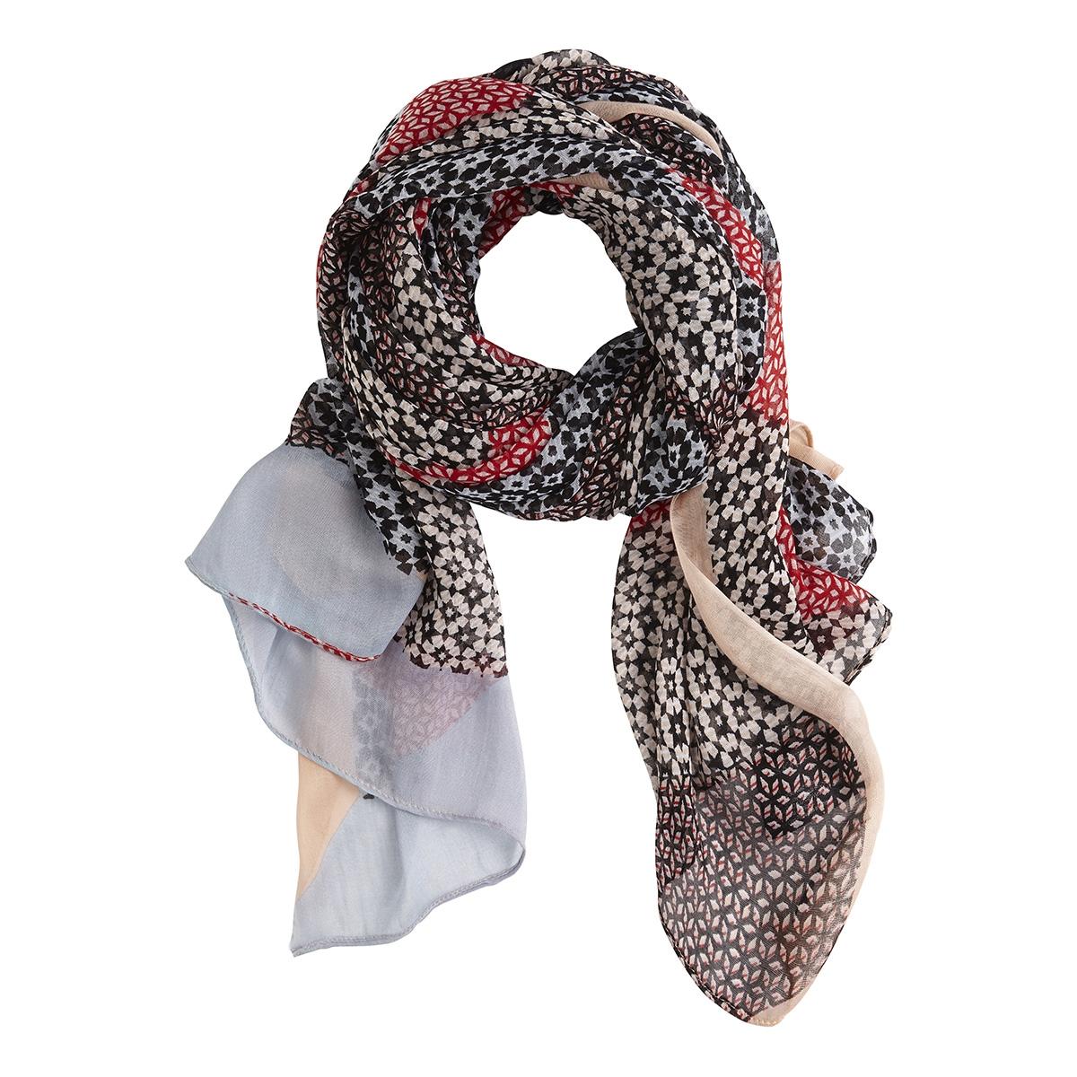 sjaal met all over print 28001434 sandwich sjaal 20145