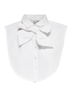 Only Accessoire ONLSHELLY WEAVED COLLAR BIG BOW 15180002 Bright White