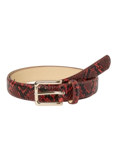 pcjulie snake jeans belt 17098625 pieces riem racing red