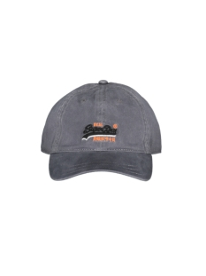 Superdry Accessoire WASH TWILL CAP M9000021A GREY