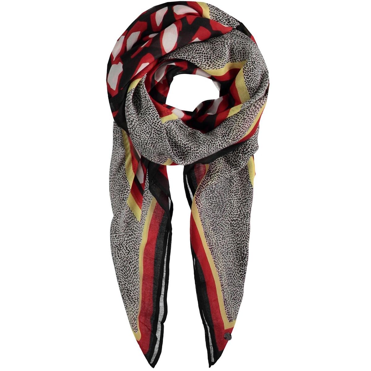 zwarte sjaal met print g90130 garcia sjaal 60 black