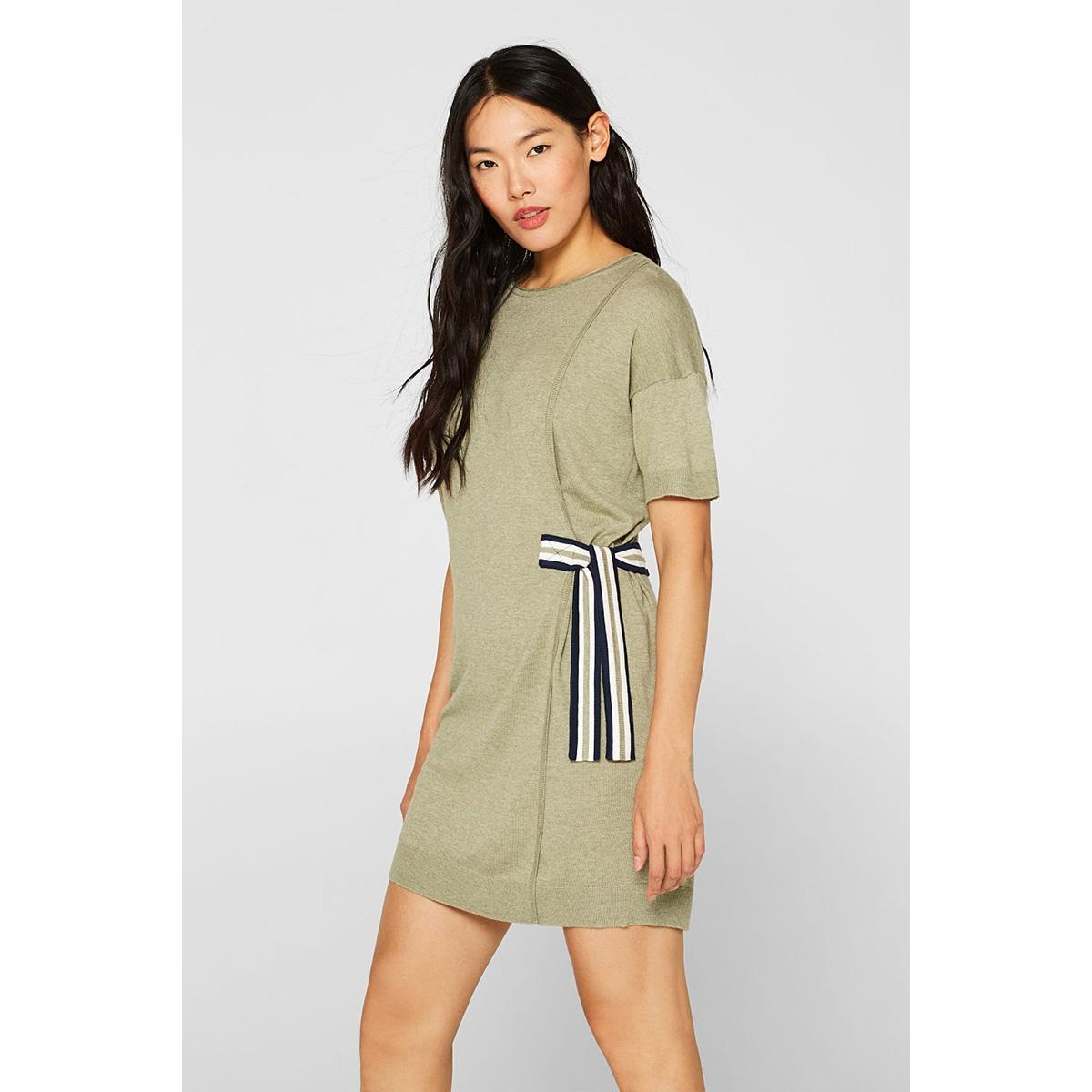 gebreide jurk met strikdetail 089cc1e013 edc jurk c354