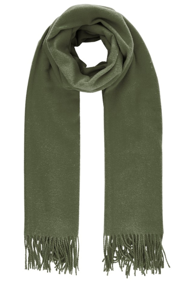 pcjira wool scarf noos 17083758 pieces sjaal forest night