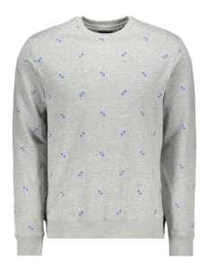 Only & Sons sweater onsKNIGHT AOP FLEECE SWEAT 22013473 Light Grey Melange