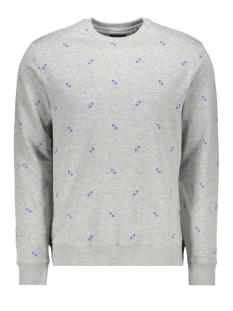 onsknight aop fleece sweat 22013473 only & sons sweater light grey melange
