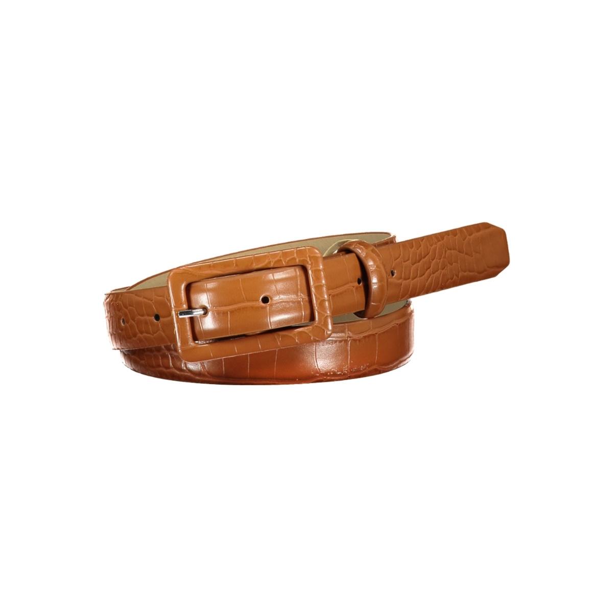 pcheather jeans belt 17098628 pieces riem cognac