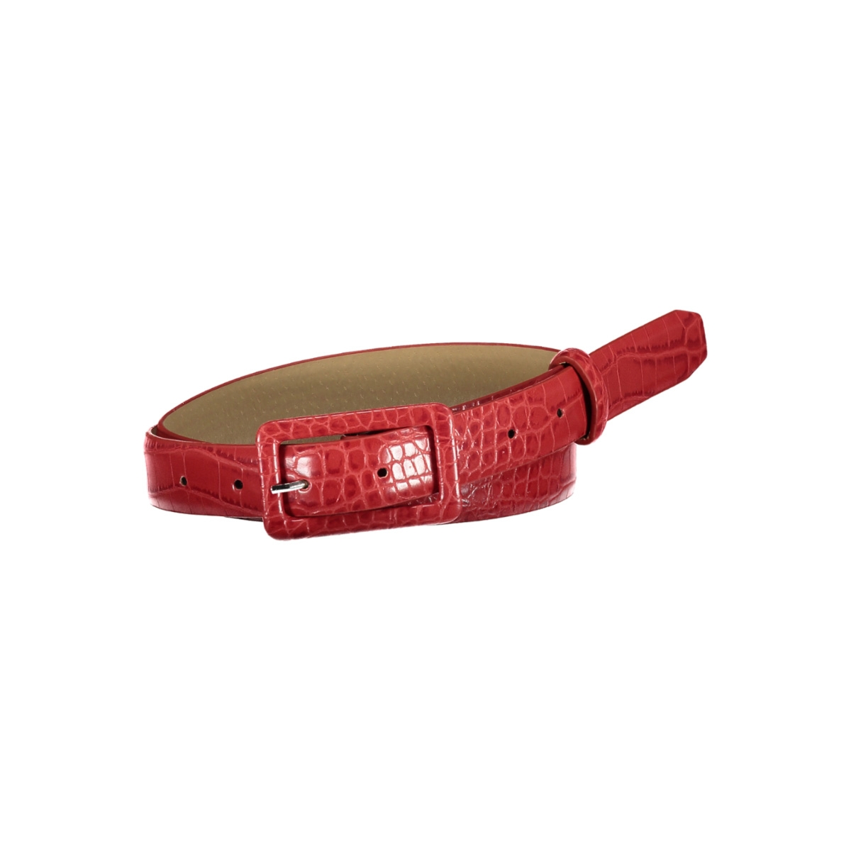 pcheather jeans belt 17098628 pieces riem racing red