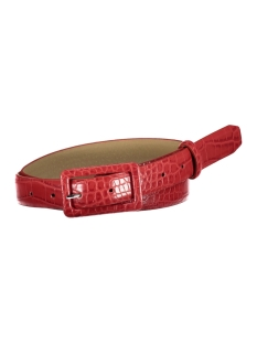 Pieces Riem PCHEATHER JEANS BELT 17098628 Racing Red