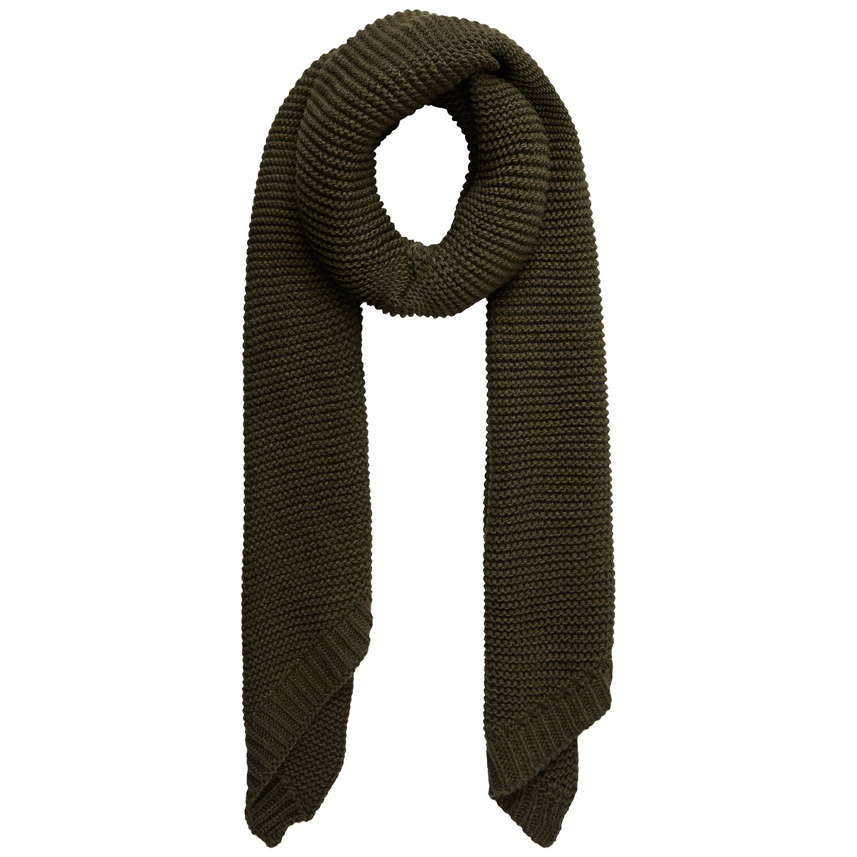 pcdace long wool  scarf noos 17090600 pieces sjaal forest night