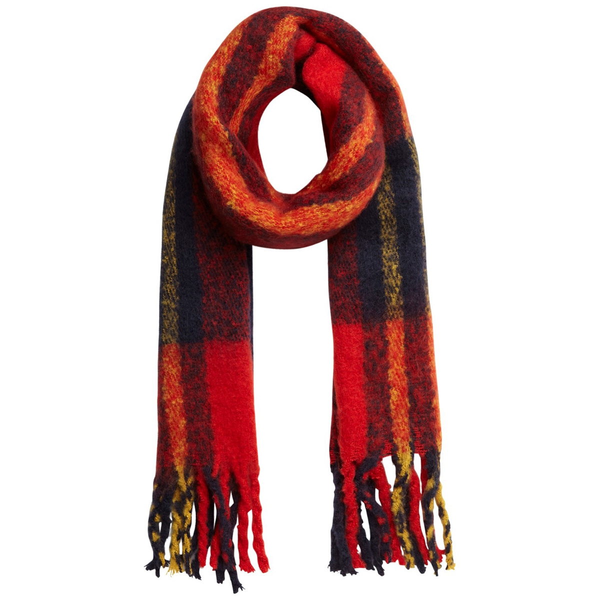 pcellie long scarf noos 17097216 pieces sjaal racing red