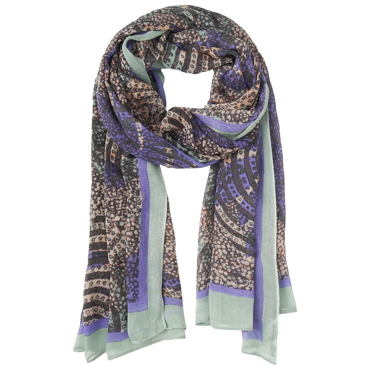 sjaal met kleurrijke allover print 28001455 sandwich sjaal 70014