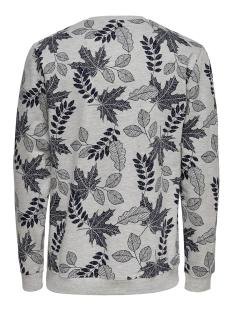 onsbelkin sweat crew neck vd 22013656 only & sons sweater light grey melange